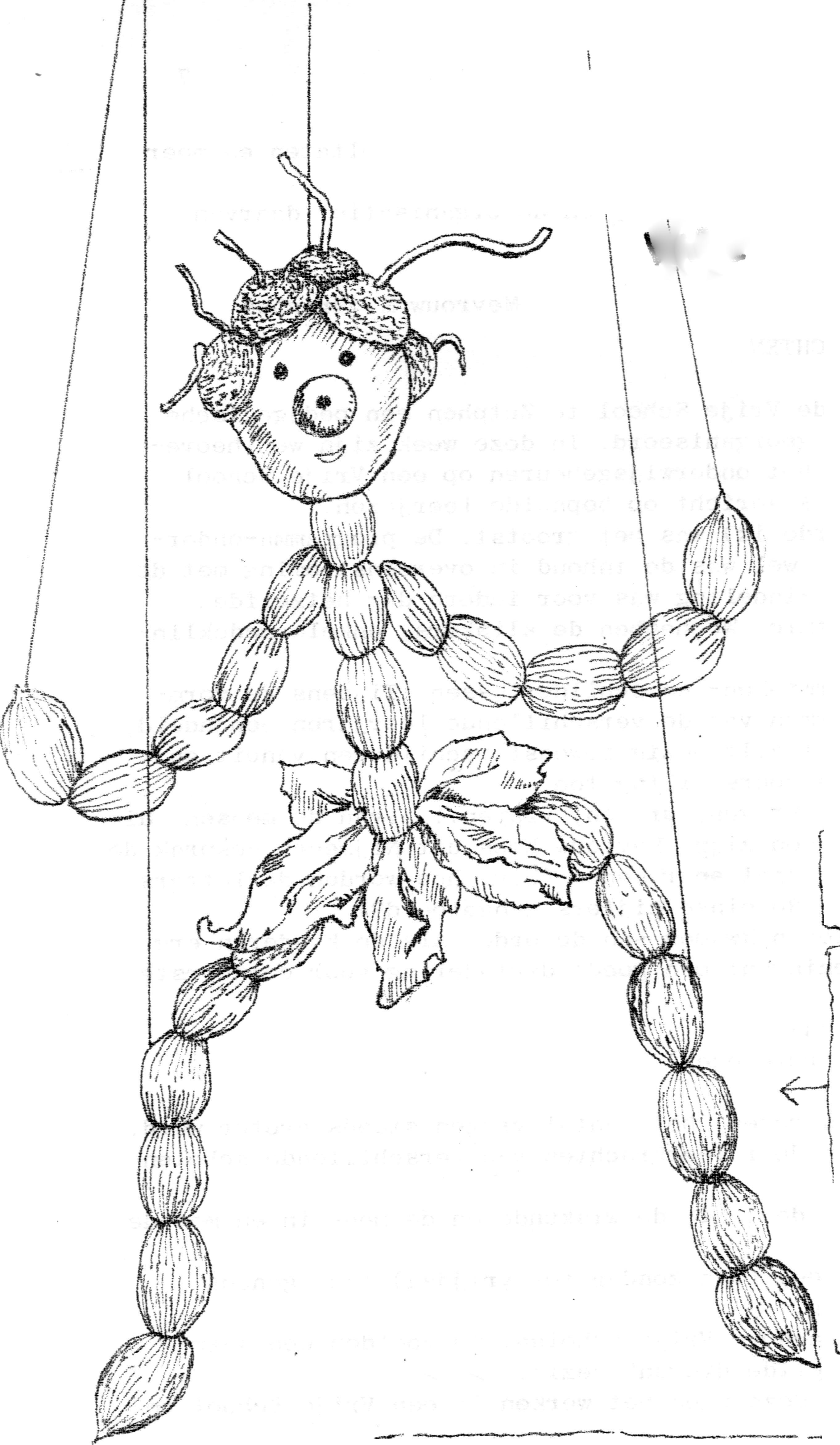 marionet kleurplaat 12 best trekpop maken images on