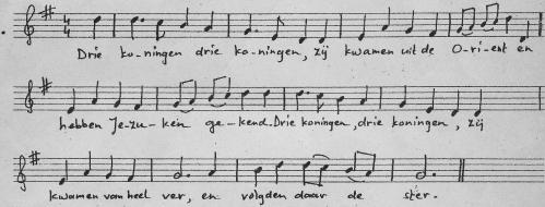 driekoningen lied