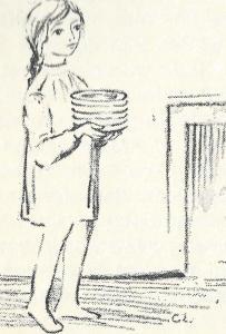 meisje met borden