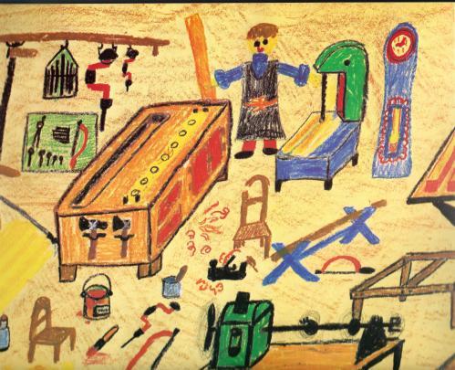 tekening vrijeschoolkind